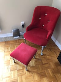 Kids Red Wingback Chair