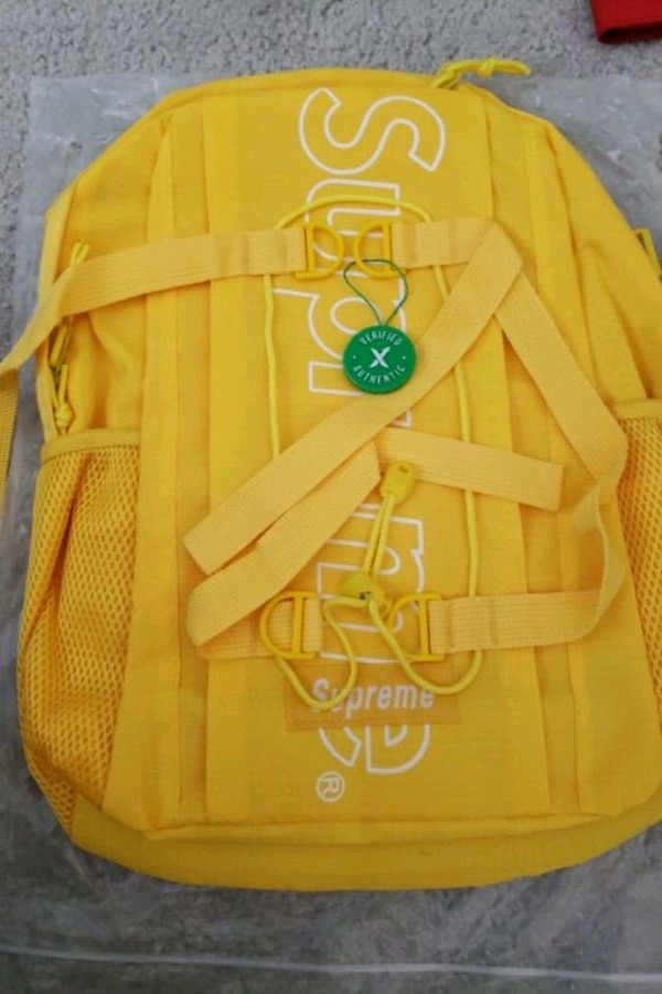 Used StockX Verified Supreme Yellow Backpack For Sale In Frisco