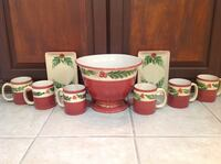 four white-and-red ceramic mugs Maryville, 37801