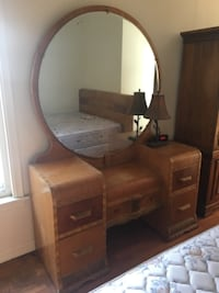 Art Deco vanity and queen bed WASHINGTON