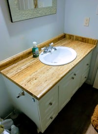 48 Bathroom vanity with faucet