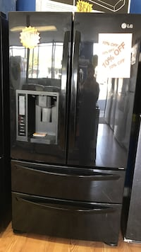 black french door refrigerator with dispenser