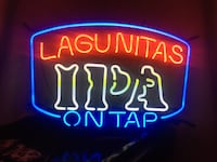 Blue and red lagunitas neon signage great for home bar Fresno, 93711