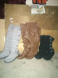 3 pairs of womens fashion boots like new condition Topeka, 66605