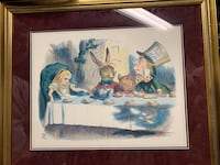 Alice in Wonderland framed artwork. Springfield, 22150