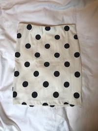 Black and white polka dot pencil skirt Vancouver, V6B
