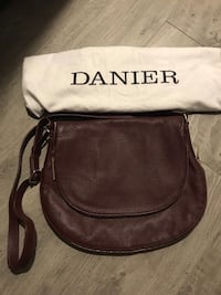 black and brown leather crossbody bag Coquitlam, V3B 0M8