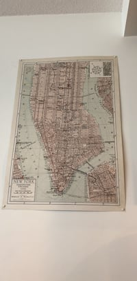 Vintage style New York poster map  Vancouver, V5R