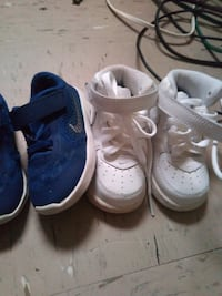 toddler's three pairs of shoes New York