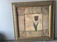 Red Tulip with Gold Ornate Frame 27x27 inch Ripon, 95366