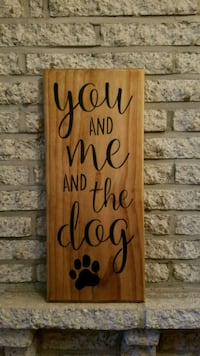 """Handmade wooden sign """"you and me..."""" Frederick, 21703"""