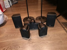Home Theatre Speakers (5). No sub woofer.