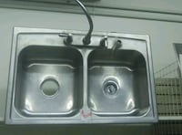 stainless steel twin sink with faucet Mesa, 85210