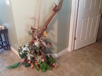 Large piece of Driftwood with silk flowers