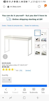 Besta Burs Ikea Desk $199 MSRP Washington, 20037
