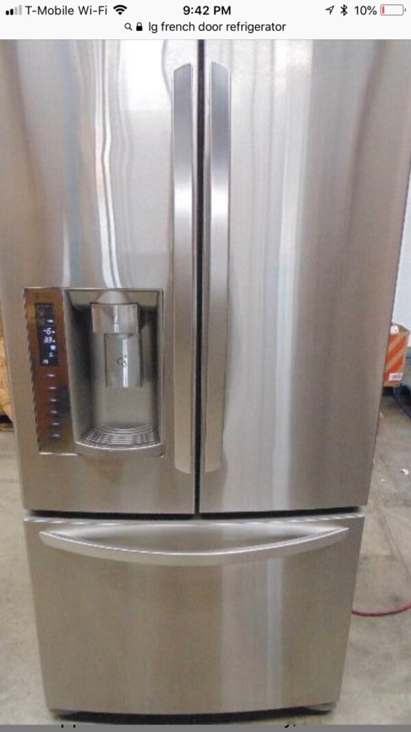 Used Lg French Door Stainless Steel Refrigerator For Sale In