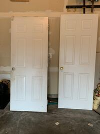 Outside door and inside door White used Two doors and one frame Upper Marlboro, 20774
