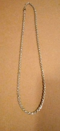 "22""  Silver Necklace Bloomington, 61701"