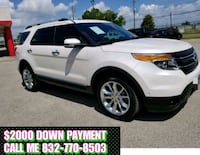 Ford - Explorer - 2014 $2000 DOWN PAYMENT Houston