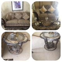 Sofa Loveseat coffie table and two end tables