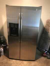 stainless steel side-by-side refrigerator with dispenser Charlotte, 28202