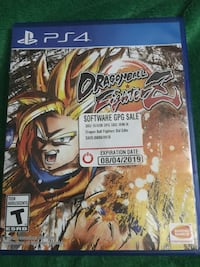 PS4 Dragonball Fighter Z game case Dana Point, 92629