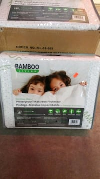 Bamboo waterproof mattress protector qs or king Mississauga, L4X 1R1