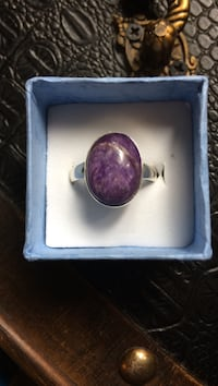 925 Sterling Silver Size 8 Charoite ring Vinton, 24179