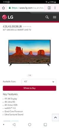 "NEW IN BOX - LG TV 43"" 4K SMART TV  Toronto, M4A 2X6"