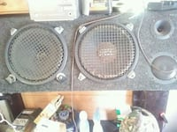 four black and gray subwoofer speakers Hiwassee, 24347