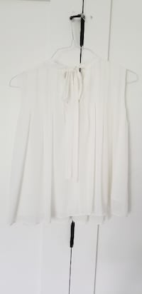 Classy white blouse by After Mark purchased at THE VANCOUVER