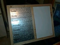 Metal schedule and magnetic white board Rockford, 55373