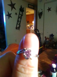 Sterling silver pink ring