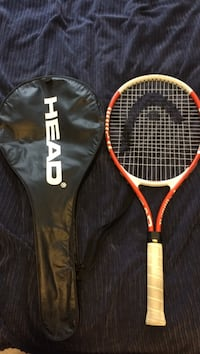 red and white Head tennis racket with black case Central Okanagan, V4T 1S1