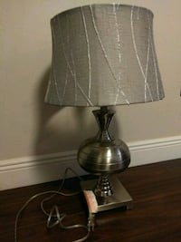 brass base with white lampshade table lamp Miami, 33193