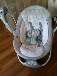 baby's white and gray bouncer Edmonton, T5E 4E5