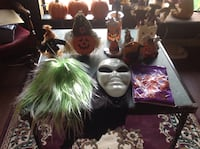 VARIOUS HALLOWEEN DECORATIONS ON TABLE. Surrey, V3W 3C9