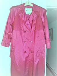 NEGOTIABLE - AS NEW MAGENTA TRENCH COAT, LIGHT OVERCOAT (14)