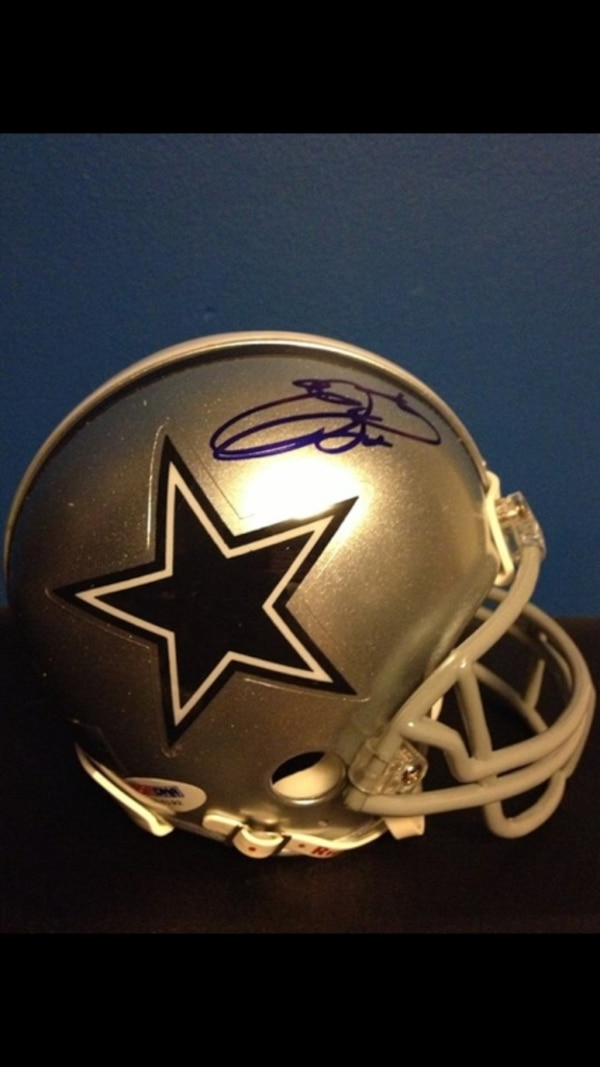 d843fdbf2 Used Emmitt Smith signed Dallas Cowboy mini helmet with psa DNA for sale in  Butler - letgo