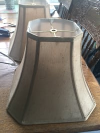 """Lamp shades   12"""" tall  13"""" wide at bottom 6 """"wide at top non smoking home excellent condition 20 for pair Fallston, 21047"""