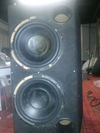 black and gray subwoofer speaker Victoria