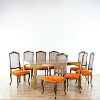 rectangular brown wooden table with chairs dining set South San Francisco