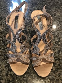 INC Kacee Randy Ibis Evening Sandals In Bisque-Size 8 New Baltimore, 48051