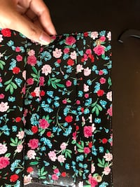 black, green, and pink floral textile Mississauga, L4Y 4E2