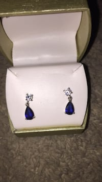 14K Diamond Sapphire Earrings  San Antonio, 78216