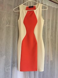 white and orange boat-neck sleeveless sheath dress Covina, 91724