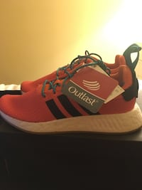 Pair of red-and-black adidas sneakers Hamilton, L8T 2B5