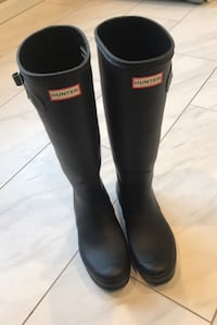 Women's Original Tall Hunter Rain Boots: Black, US 9 Rockville, 20852