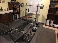 Weights, benches and floor matts, $200 OBO Sterling, 20165