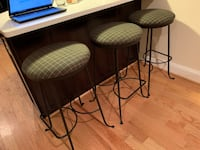 two black metal framed padded chairs Baltimore, 21224